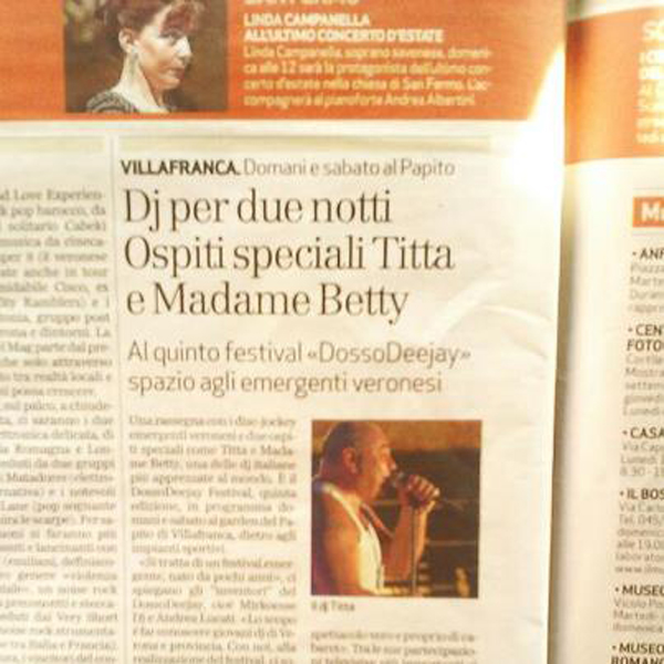 villa franca l'arena di verona intervista a madame betty